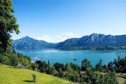 Mondsee-søen og Drachenwand (c) TVB MondSeeLand