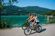 Cykling ved Mondsee-søen