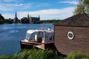 Båd på Slottesøen i Hillerød