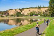 Cykling langs Elben i Diesbar-Seusslitz