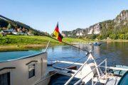 Færge på Elben i Saksiske Schweiz