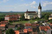 Cykl forbi middelalderbyen Litomerice i Tjekkiet
