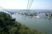 Svævebanen ver Rhinen i Koblenz