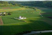 Grønne marker i Altmühl-dalen
