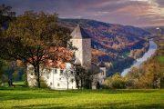 Udsigt over Altmühltal fra Burg Prunn