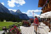 Bjerghytte omkring Zugspitze