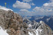 Udsigt fra toppen af Zugspitze